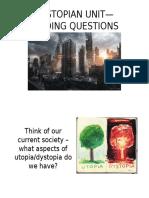 dystopian unit-guiding questions ppt