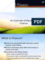 Overview of Managerial Finance