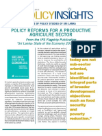 Policy Reforms for a Productive Agriculture Sector