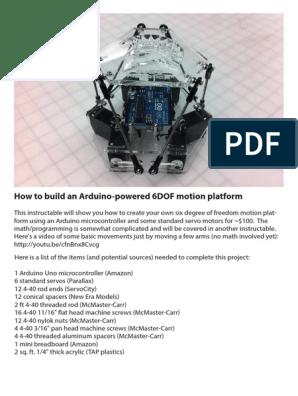 Arduino 6DOF Motion Platform LoRes | Arduino | Drill
