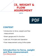 Force Weight Flow Measurement
