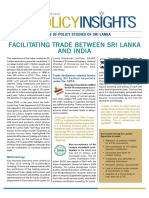 Facilitating Trade between India and Sri Lanka