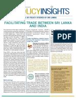 Facilitating Trade between India and Sri Lanka