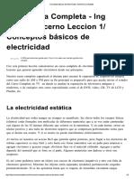 Conceptos Básicos de Electricidad » Electrónica Completa