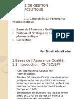 Assurance Qualité en Pharmaceutique