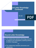 Sound Letter Knowledge 02