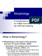 Morphology 01