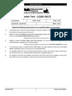 2017 Vidyamandir Classes Booster Test 1 ACEG
