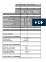 Injection Molding Cost Model