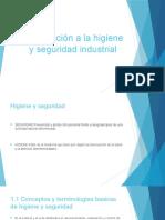 Introducción a La Higiene y Seguridad Industrial