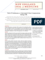 Trial of Continuous or Interrupted Chest Compressions During CPR