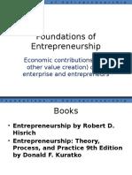 Lecture 2 - Economic Contributions by Entrepreneurs 07.01.2016