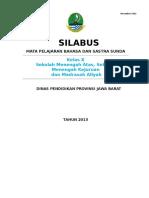 Model Silabus Basa Sunda Kelas 10