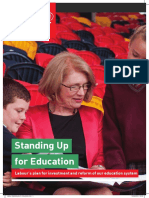 Standing Up for Education