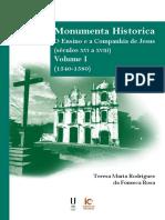 Monumenta Historica – o Ensino e a Companhia de Jesusta Versao Ordenada
