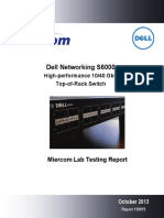 Miercom Report DR130815 Dell Networking S6000 Switch 08Oct2013