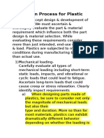 Design Process for Plastic