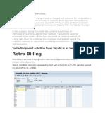 Retro Billing in SAP