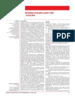 MONOCHROMATIC INTENSE PULSED LIGHT FOR TREATMENT OF LIP VITILIGO; Dr vineet vinayak