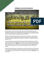 Surah Rehman and Its Teachings