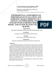 EXPERIMENTAL COMPARISON OF PERFORMANCE EVALUATION AND EMISSION CHARACTERISTICS OF A SINGLE CYLINDER DIESEL ENGINE FUELED WITH JATROPHA BIODIESEL-DIESEL AND WASTE PLASTIC OIL-DIESEL BLENDS