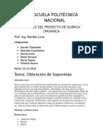 Saponinas Informe Final de Semestre