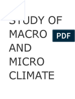Study of Macro and Micro Climate