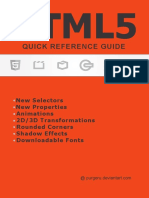 Html5 Quick Reference Guide by Purgeru-d4yymne