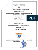Synopsis on innovative Media in Advertizing_Pawan Sahni_Apr 2010