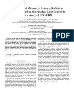 The Effect of Microstrip Antenna Radiation Properties based on the Physical Modification in Slabs Array of PBG/EBG