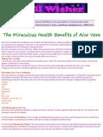 The Miraculous Health Benefits of Aloe Vera
