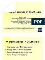 Microinsurance in South Asia