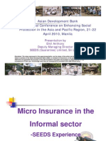 Microinsurance in the Informal sector