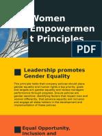 7 Women Empowerment Principles