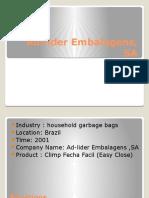 Ad-lider Embalagens, SA