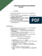 Industrial Development in Pakistan During Different Decades