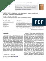 AnalyAnalysis of the vibrationally induced dissipative heating of thin-wallsis of the Vibrationally Induced Dissipative Heating of Thin-wall