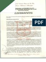 LEY MUNICIPAL AUTONÓMICA Nº 015 -  LEY GENERAL DEL TRANSPORTE Y TRÁNSITO URBANO
