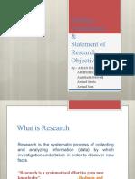 Problem Formulation of Research Methodology