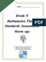 grade 4 fsa warm-ups   Pint   Fraction (Mathematics)