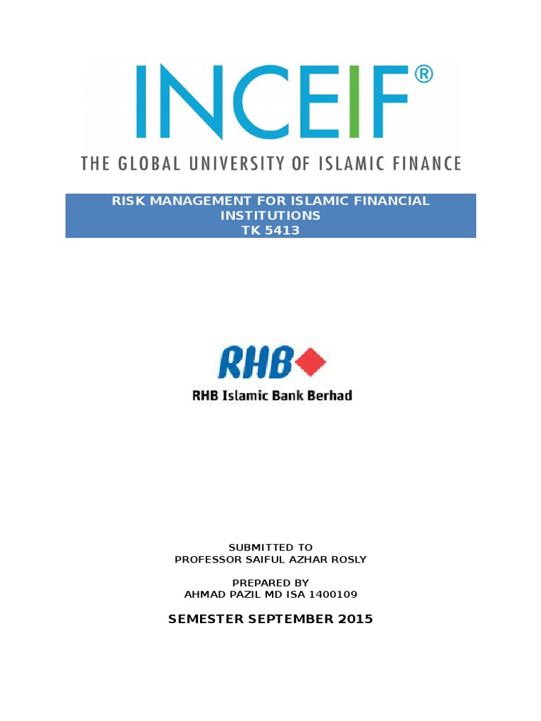 Rhb Islamic Bank Berhad 2014 Derivative Finance Fair Value