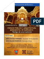 Conferencia Espacio Público y Arquitectura Monumental en Barranco