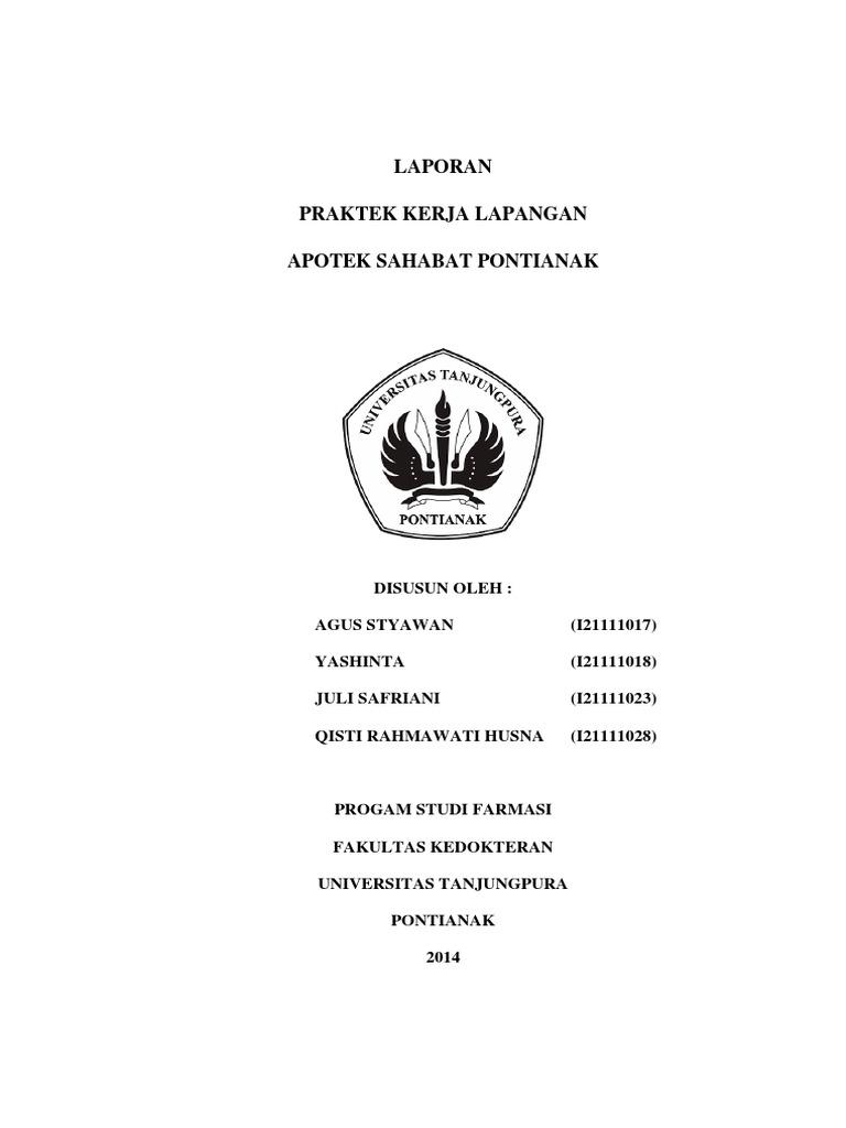 Laporan Pkl Apotek Sahabat Pdf