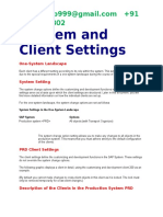 System and Client Settings