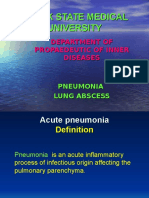 Pneumonia & Lung Abscess