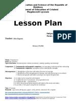 Lesson Plan Comsumerism