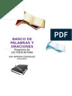 Banco de Palabras y Oraciones Por Letras Editable