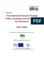 Final National Climate Change Policy, Strategy and Action Plan for Suriname 2014-2021