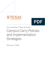 Campus Carry Policies and Implementation Strategies