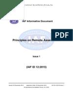 IAF ID 12 Principles Remote Assessment 22-12-2015